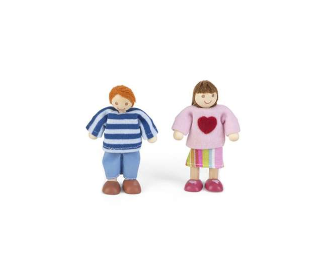 KDK-65912 + KDK-65202 KidKraft Belle's Enchanted Dollhouse + Doll Family