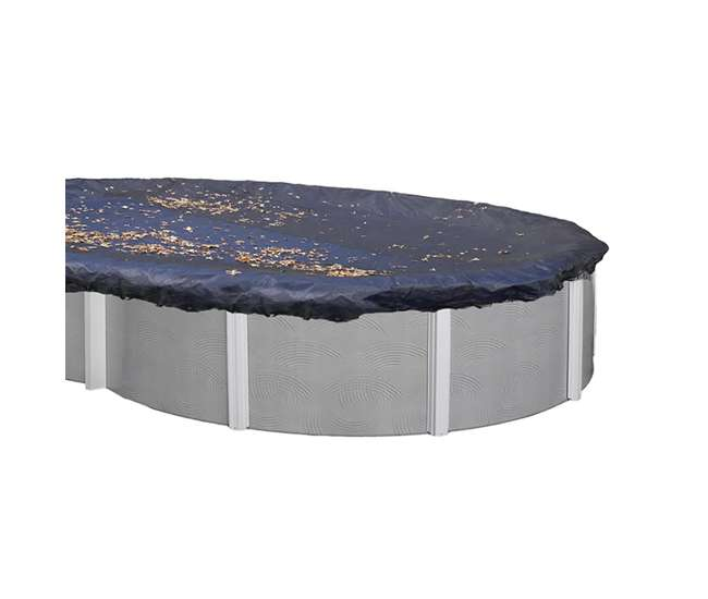 Swimline 15 X 30 Foot Heavy Duty Oval Above Ground Winter Swimming Pool Cover Blue S1530ov