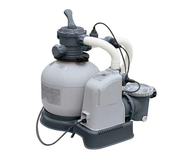 intex 2100 gph sand filter pool pump with gfci 28645eg. Black Bedroom Furniture Sets. Home Design Ideas