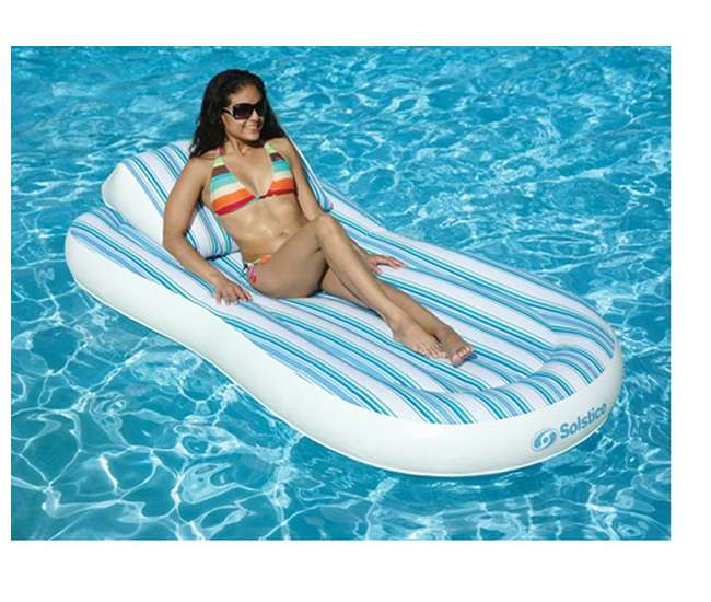 NT1350Solstice Pillow Top Floating Swimming Pool Mattress with Pump