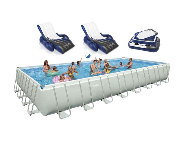 Intex 32 X 16 X 52 Quot Ultra Frame Rectangular Swimming