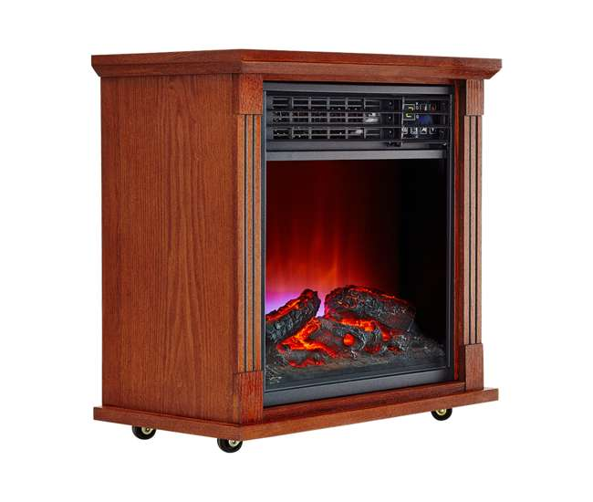 Haier Fireplace Frame Infrared Zone Heater With Dark Oak