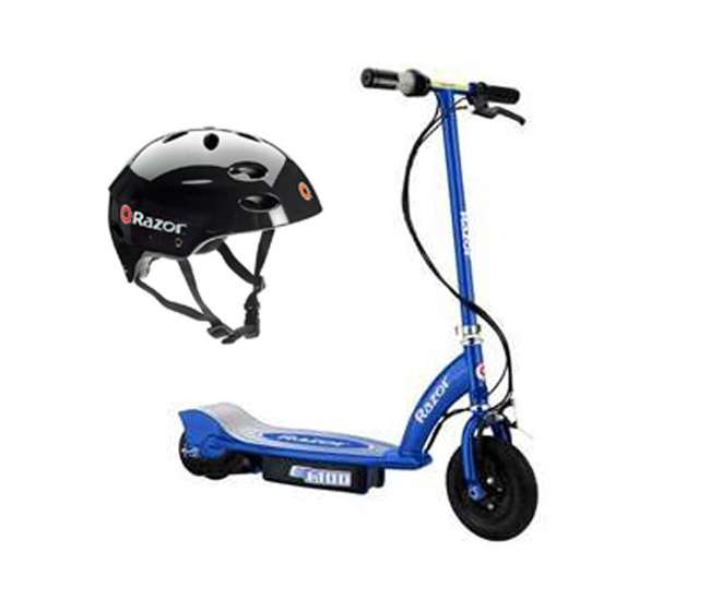 13111240 + 97778 Razor E100 Scooter & Youth Sport Helmet