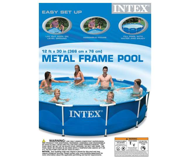 Intex 12 39 X 30 Metal Frame Set Swimming Pool W 530 Gph Pump Filters 56995eg 28211eh