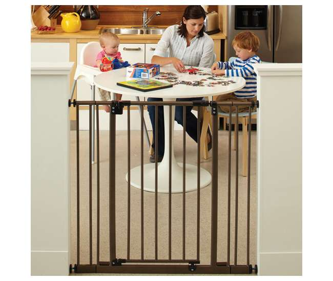 4912S North States Extra Tall Easy Close Hard to Climb Child/ Pet Gate, Bronze | 4912S