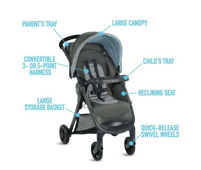 2082773 Graco FastAction SE Stroller w/ SnugRide 30 LX Infant Car Seat Travel System