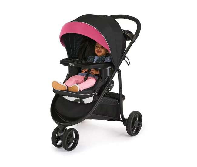 2081084 Graco Modes 3 Lite DLX Baby Stroller & Infant Car Seat Travel System, Arbis Pink