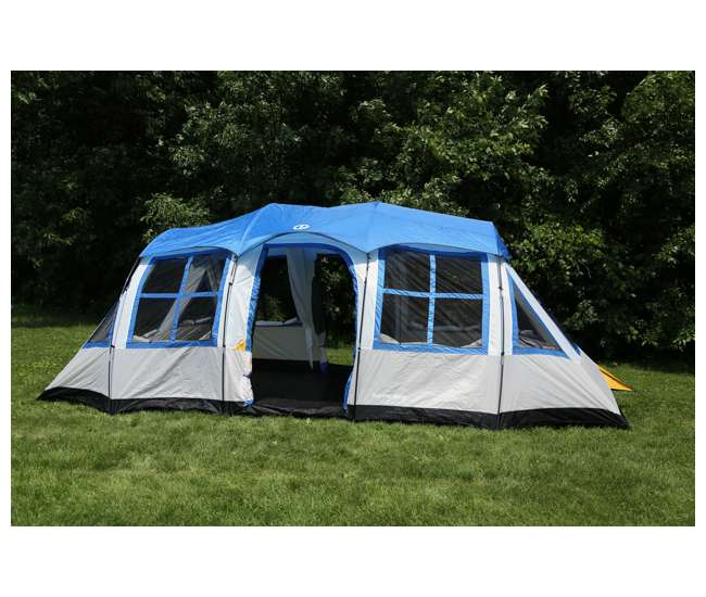 DT201080-1 Tahoe Gear Prescott 12 Person 3-Season Family Cabin Camping Tent - Open Box