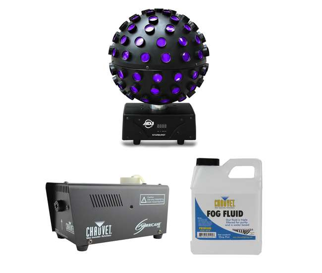 STARBURST + H700 American DJ Starburst HEX LED Sphere Light and the Hurricane 700 Fog Machine