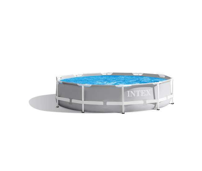26700EH + 28030E + 28637EG + 2 x 29007E Intex Above Ground Swimming Pool w/ Cartridge Filter Pump, 2 Filters & Cover