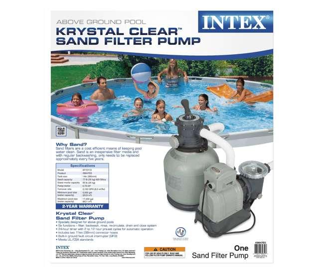 28647EG + 28000E Intex 2800 GPH Above Ground Pool Sand Filter Pump + Wall-Mounted Surface Skimmer