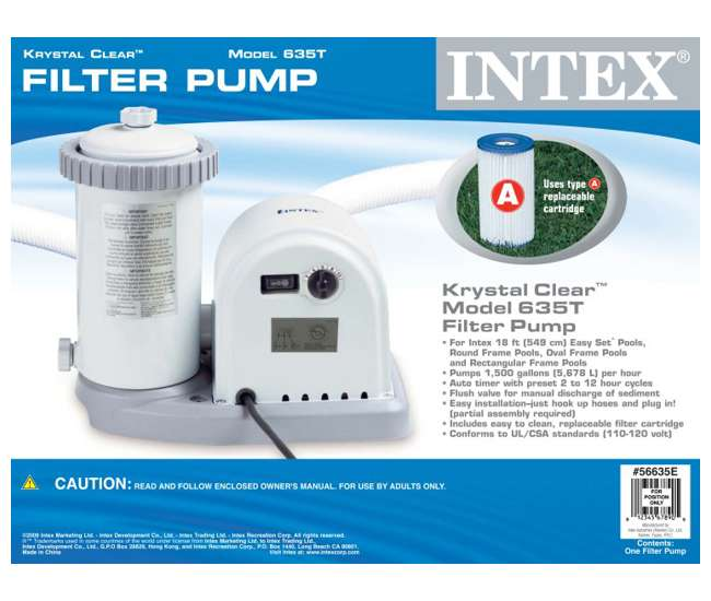 56635E Intex Easy Set 1500 GPH Swimming Pool Filter Pump | 56635E