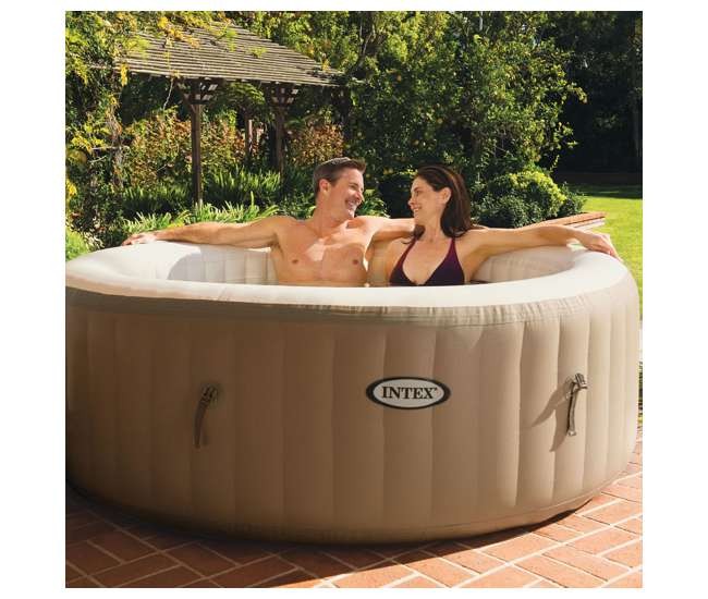 intex pure spa inflatable 4 person hot tub 28403e. Black Bedroom Furniture Sets. Home Design Ideas