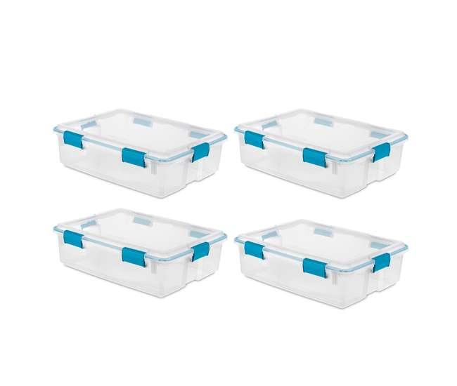 4 x 19314304 Sterilite 37 Quart Thin Gasket Box Storage Container, 4-Pack