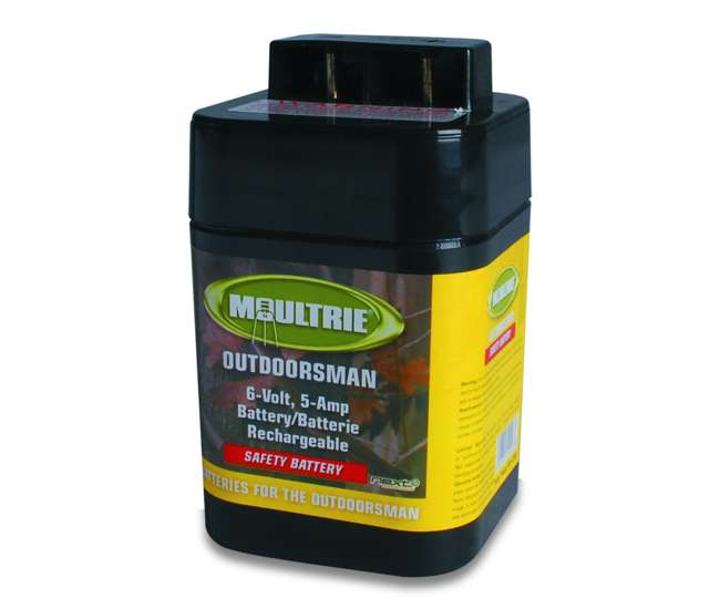 moultrie 6 volt batteries 2 rechargeable safety feeder