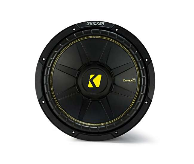 QDODGE124DOOR + 2 x44CWCS124+R1100M+4GAMPKIT-SFLEX 2 Kicker 12-Inch 600W Subwoofers w/ Dodge Ram Quad Cab '02- 12-Inch Box with Amp with Wiring (Pair)