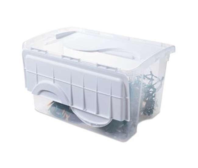 6 x 19148006 Sterilite 19148006 48 Quart Storage Tote w/Hinged Lid (6 Pack)