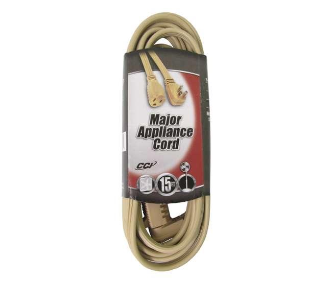 035363323Coleman Cable 15-Foot Beige 14-Gauge Flat Vinyl Major Appliance Extension Cord