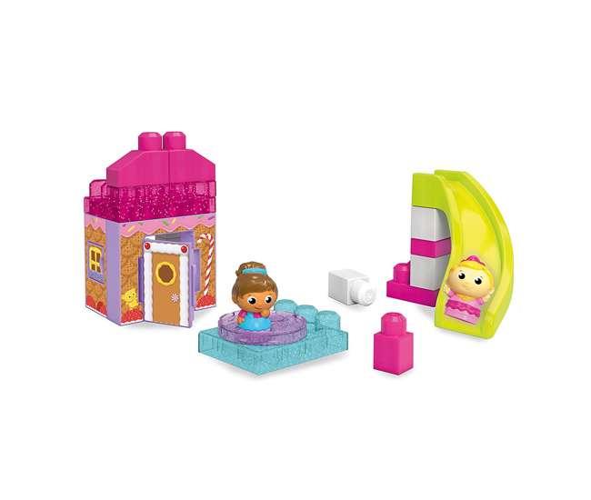 DKX86 Mega Bloks Spin 'N Slide Gingerbread Park Playset