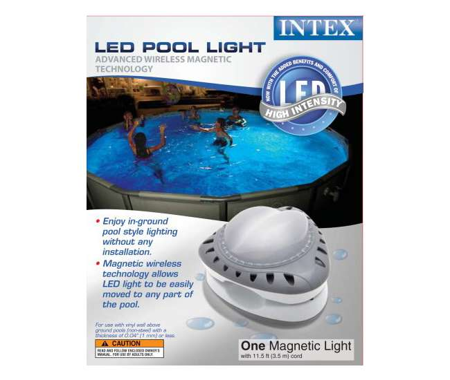 intex above ground led magnetic pool light 56687e. Black Bedroom Furniture Sets. Home Design Ideas
