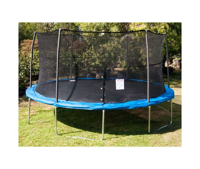 JumpKing 15-Foot Trampoline With Safety Net Enclosure