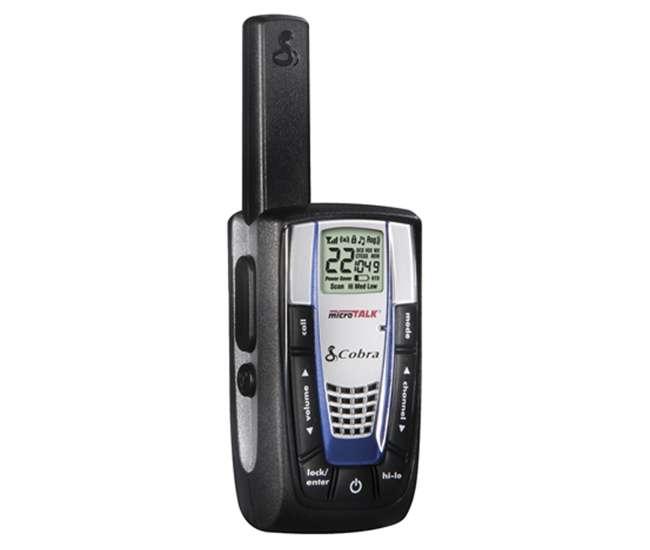 CXR875 + 4 x GA-EBM2Cobra CXR875 30 Mile 22 Channel FRS/GMRS Walkie Talkie 2-Way Radios (4) + Headsets (4)