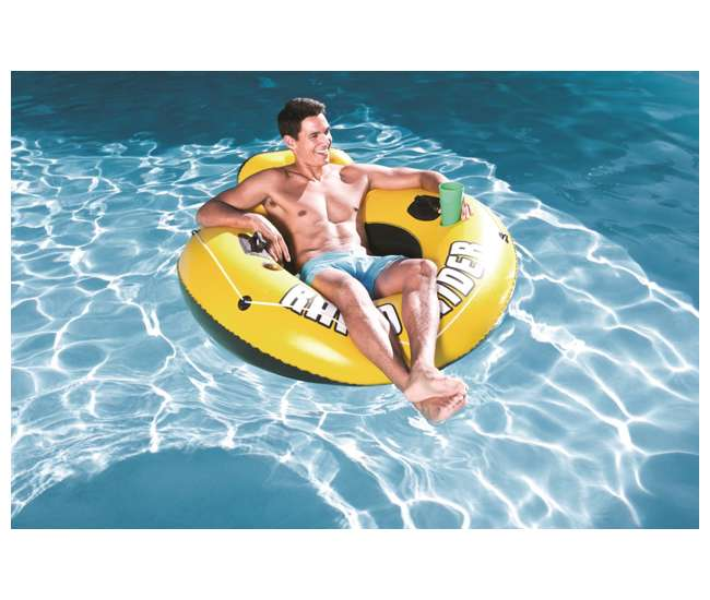 43116E-BW + 2 x 58825EP Bestway Rapid Rider 53-Inch Inflatable Tube (2 Pack) + River Run Tube (2 Pack)