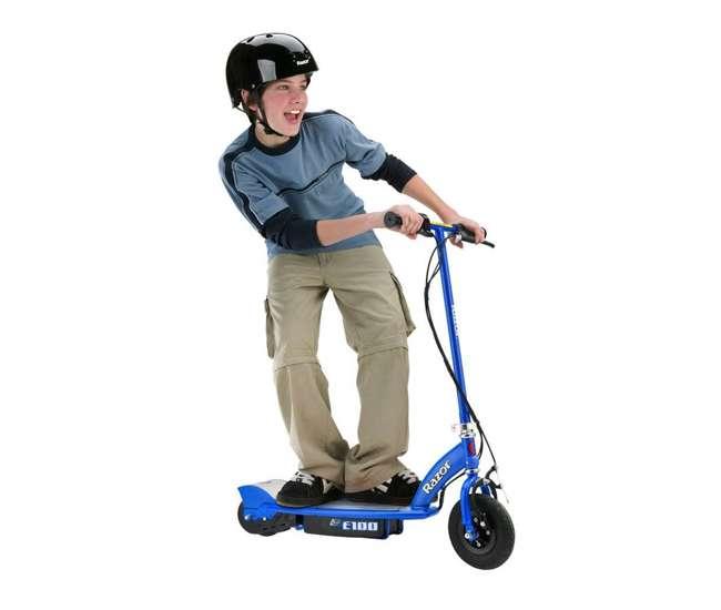 13111163 + 13111240 Razor Electric Motorized Kids Scooters, 1 Pink & 1 Blue