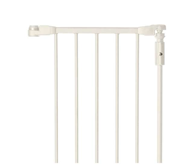 4954S + 4958 North States Deluxe Decor Baby Pet Metal Gate 38-72 Inches w/ 15-Inch Extension