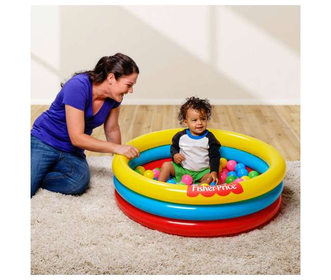 93501E-BW Fisher-Price 3 Ring Fun And Colorful Ball Pit Pool For Ages 2 And Up (Used)