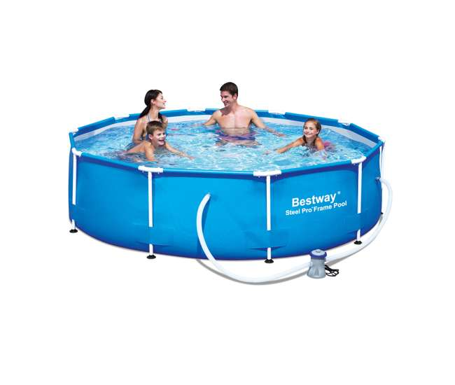 Bestway 10 39 X 30 Inch Steel Pro Frame Above Ground Swimming Pool Set 56343e 56343e Bw