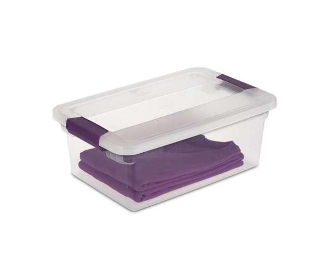 12 x 17531712 Sterilite 15-Quart ClearView Storage Tote (12 Pack) | 17531712