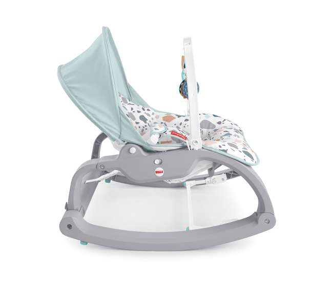 GHY58 Fisher Price Infant to Toddler Portable Deluxe Baby Seat Rocker, Pacific Pebble