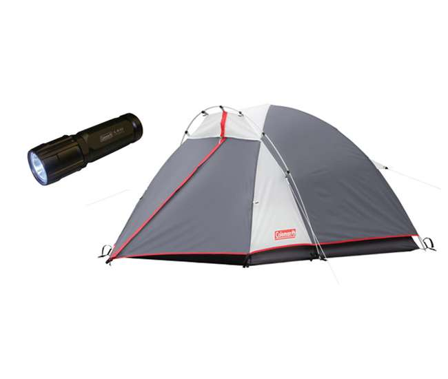 Coleman Max 2 Person Tent For Backpacking + LED Flashlight