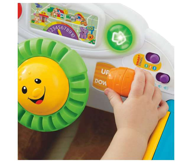 DJD09 Fisher-Price Laugh & Learn Crawl Around Car Baby Activity Learning Toy, Blue