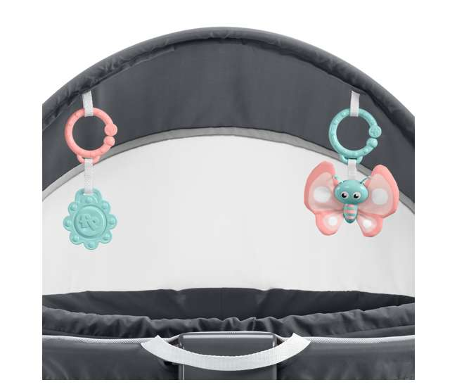 GKH69 Fisher Price GKH69 2-in-1 Portable On-The-Go Baby Dome Play Area, Rosy Windmill