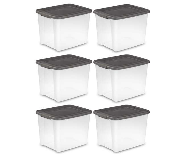 6 x 19373V06 Sterilite 50-Quart Latching Tote (6 Pack)