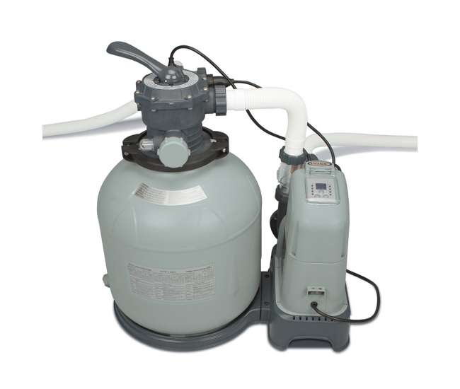 Intex 2650 Gph Saltwater System Sand Filter Pump Swimming Pool Set 28679eg