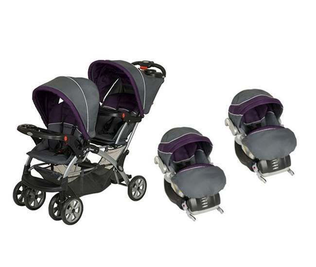 Baby Trend Sit N Stand Double Twin Travel System Elixer