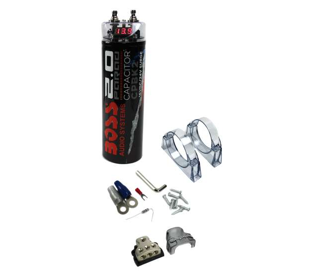 boss cpbk2 2 farad digital voltage capacitor led with