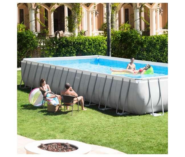 Intex 32 x 16 x 4 3 foot ultra frame rectangular pool set - Ultra frame rectangular swimming pool ...