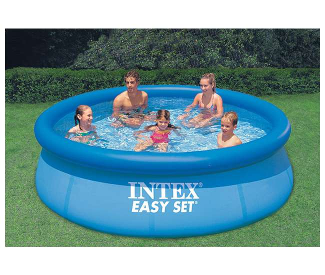 intex 10 foot x 30 inch easy set pool with pump 28121eh. Black Bedroom Furniture Sets. Home Design Ideas