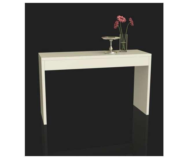 R4-0116Northfield Modern Espresso Wood Console Hallway Table - White   111091W