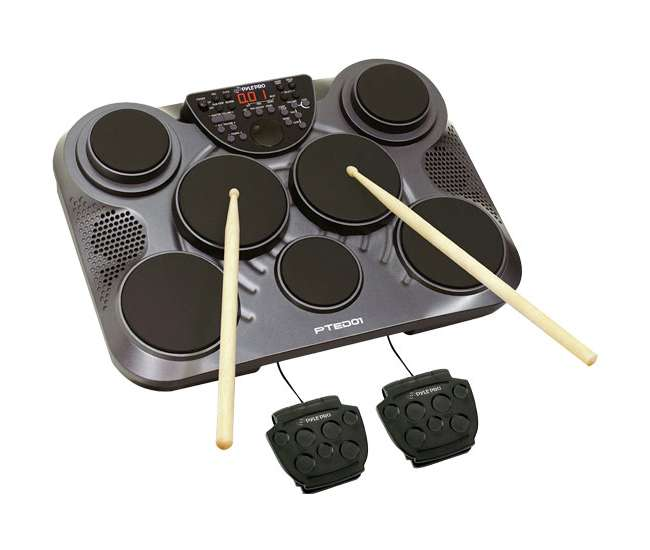pyle pro pted01 electronic digital drum kit set