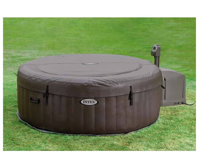 intex pure spa 4 person inflatable portable hot tub 28421e. Black Bedroom Furniture Sets. Home Design Ideas