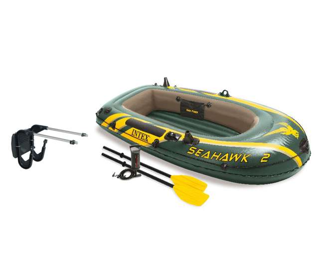 Intex Seahawk 2 Inflatable Boat Set With Oars Pump And