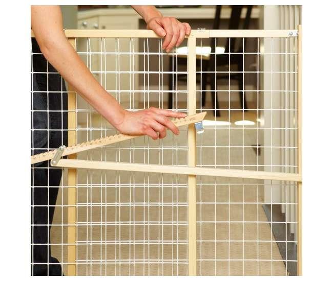 4615North States Wide Wire Mesh Adjustable Child & Pet Safety Gate