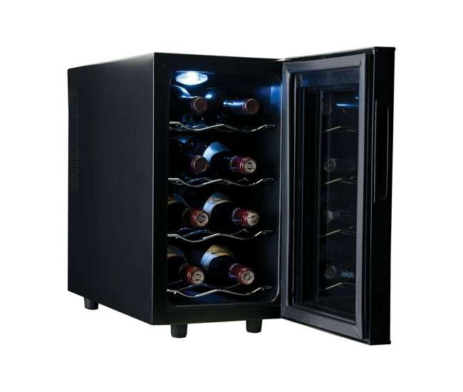 haier thermoelectric 8 bottle wine cellar with electronic. Black Bedroom Furniture Sets. Home Design Ideas
