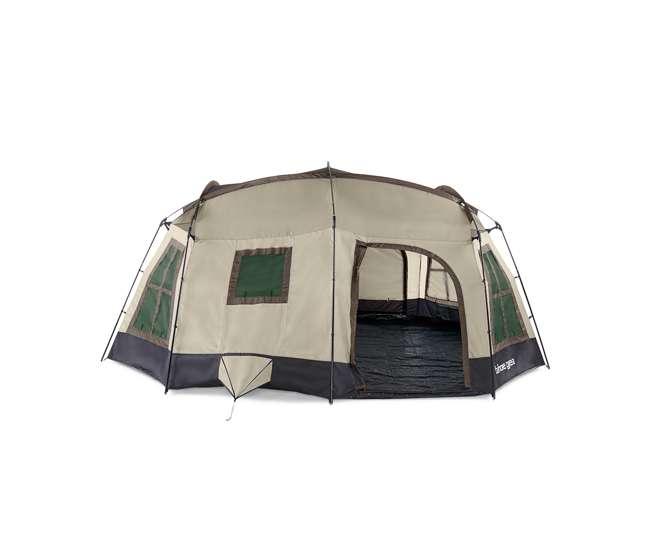 TGT-OZARK-16-D Tahoe Gear Ozark TGT-OZARK-16-D 16 Person 3 Season Family Cabin Tent, Brown