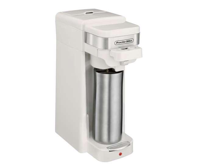 Proctor Silex Single Serve Compact Coffee Maker White